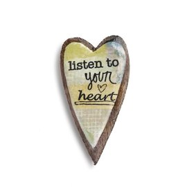 KELLY RAE ROBERTS HEART PIN - LISTEN TO YOUR HEAR