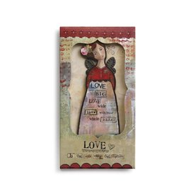 KELLY RAE ORNAMENT CARD LOVE ANGEL