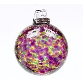 GLASS BALL CALICO WINTER CARNIVAL