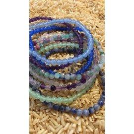 TINY STONE BEAD BRACELET - LAPIS BLUE