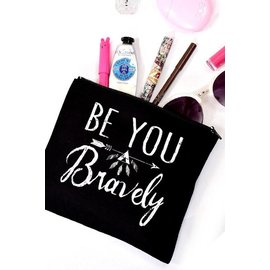 BE YOU CANVAS POUCH BLACK