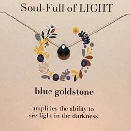 SOULKU BLUE GOLDSTONE NECKLACE