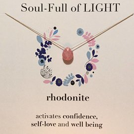 SOULKU RHODONITE NECKLACE