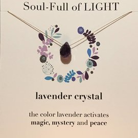 SOULKU LAVENDER CRYSTAL NECKLACE
