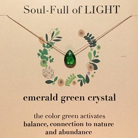SOULKU EMERALD GREEN CRYSTAL NECKLACE