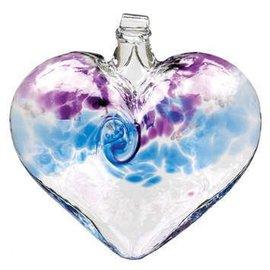 GLASS VANGLO HEART PURPLE/BLUE
