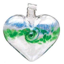 GLASS VANGLO HEART BLUE/GREEN