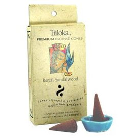 TRILOKA CONE INCENSE ROYAL SANDALWOOD