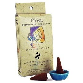 TRILOKA CONE INCENSE DREAM ROSE