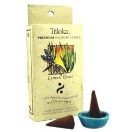TRILOKA CONE INCENSE LEMON GRASS