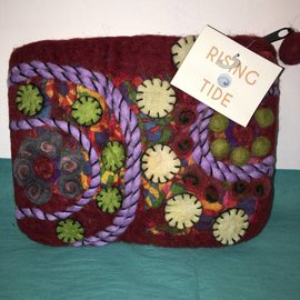 SWIRLS & CIRCLES FELTED POUCH