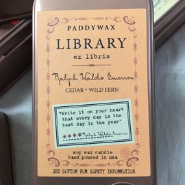 LIBRARY CANDLE TIN - RALPH WALDO EMERSON