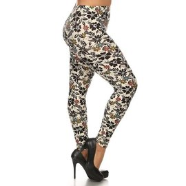 PLUS- DAISIES ONE SIZE LEGGINGS