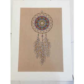 DREAMCATCHER ART PRINT - TAN