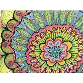 MANDALA ART PRINT - PINK AND GREEN