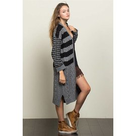 STRIPES AND STRIPES CARDIGAN