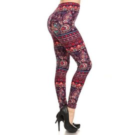 O/S BUTTERSOFT LEGGINGS- PLUM JACOBY