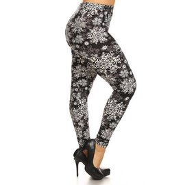 PLUS O/S SOFT LEGGINGS - WINTER MANDALA