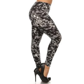 PLUS O/S SOFT LEGGINGS - STARS