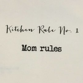 TINA LABADINI KITCHEN RULE #1 TOWEL