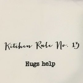 TINA LABADINI KITCHEN RULE #13 TOWEL