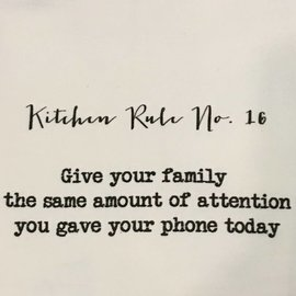 TINA LABADINI KITCHEN RULE #16 TOWEL