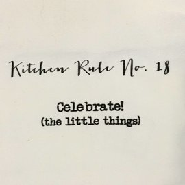 TINA LABADINI KITCHEN RULE #18 TOWEL