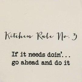 TINA LABADINI KITCHEN RULE #3 TOWEL