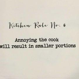 TINA LABADINI KITCHEN RULE #6 TOWEL