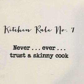 TINA LABADINI KITCHEN RULE #7 TOWEL