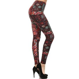 RED KILIM-  ONE SIZE LEGGINGS