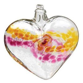 GLASS VANGLO HEART GOLD/PINK