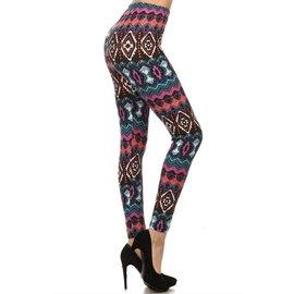 Leggings- Bright Aztec