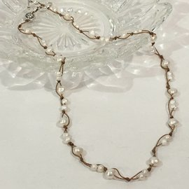 Fresh Water Pearls on Silk Necklace