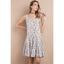 Vintage Print Summer Dress