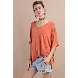 Mineral Wash Slouchy Top