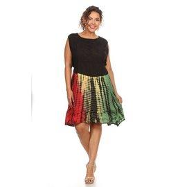 Plus Free Size Tie Dye Dress