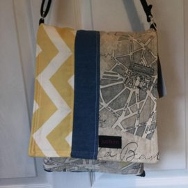 One Of A Kind Handmade Item JUST KIM Reversible Messenger-  #3