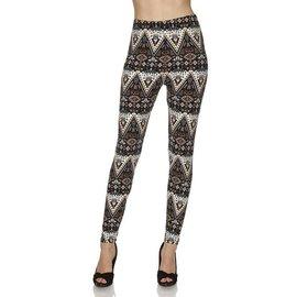 Leggings- Black Tan Triangles