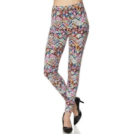 Plus Leggings- Batik Patterns