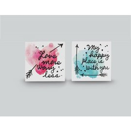 My Happy Place is With You  Wall Art