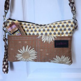 Just Kim Small Rectangle Bag Honey / Sunflowers