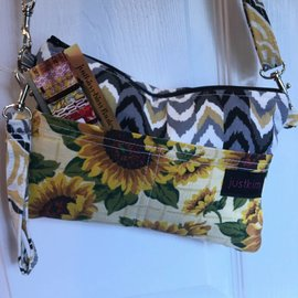 Just Kim Small Rectangle Bag Chevron  / Sunflowers