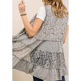 Soft Ash Lace Vest