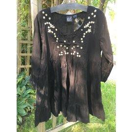 Black Embroidered Morocco Tunic - SALE