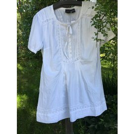 White Cotton Pin Tucked Tunic