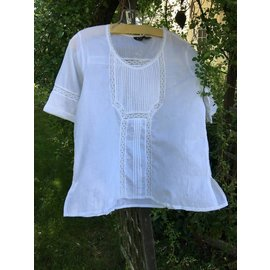 White Pintuck Top