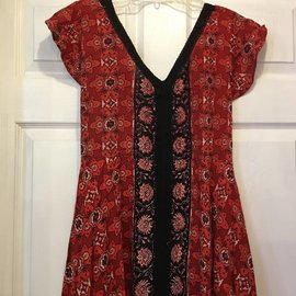 Red Hanky Hem Dress