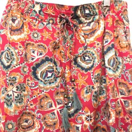 Red Boho Pants