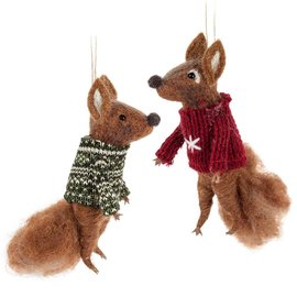 FOX IN SWEATER ORNAMENT